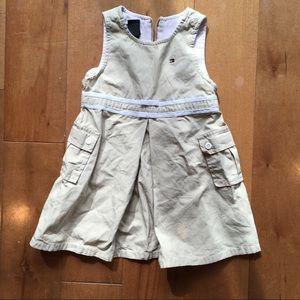 Tommy Hilfiger girls khaki casual jumper dress